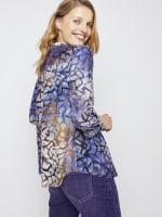 Roz & Ali Tie Dye Clip Jacquard Popover - 8
