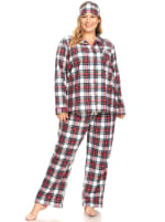 Three-Piece Pajama Set - Plus - 1