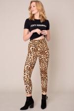 Animal Print High Waist Leggings - 3