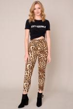Animal Print High Waist Leggings - 5