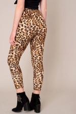Animal Print High Waist Leggings - 2