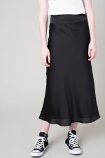 Satin A-Line Midi Skirt - 8
