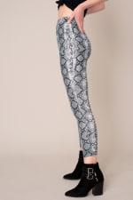 High Waist Snake Print Leggings - 4