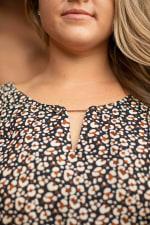 Roz & Ali Chain Trim Flutter Sleeve Blouse - Plus - 3