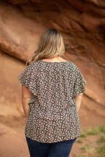 Roz & Ali Chain Trim Flutter Sleeve Blouse - Plus - 2