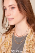 Brass Chain Linked Short Necklace - 4