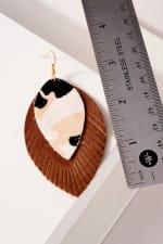Genuine Leather Animal Print Earrings - 3