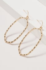 Geometric Metal Dangling Earrings - 1