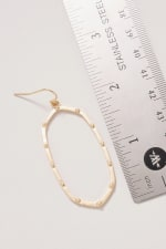 Geometric Metal Dangling Earrings - 3