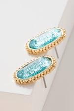 Gemstone Stud Earrings - 2