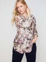 Roz & Ali Burgundy Floral Popover - Misses - 4