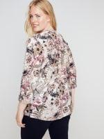 Roz & Ali Burgundy Floral Popover - Misses - 3