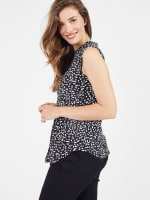 Sleeveless Painted Dots Pintuck Popover - 7