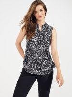 Sleeveless Painted Dots Pintuck Popover - 1