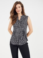 Sleeveless Painted Dots Pintuck Popover - 6