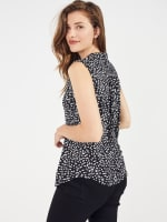 Sleeveless Painted Dots Pintuck Popover - 3
