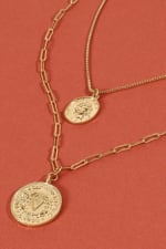 Two Pack of Coin Necklace - 3