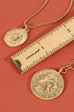 Two Pack of Coin Necklace - 4