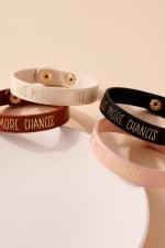Take More Chances Leather Bracelet - 4