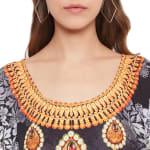 Floral Pattern Kaftan Dress - Plus - 7