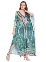 Loose Kaftan Dress - Plus - 5