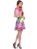 Tie Dye Print V-Neck Wrap Dress - 13