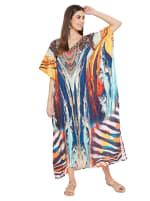Multicolor Kaftan Dress - Plus - 5