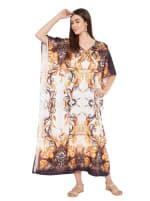 Polyester Digital Printed Kaftan Dress - Plus - 3
