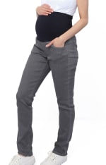 Three Seasons Maternity Slim Leg Colored Denim Jean - 5