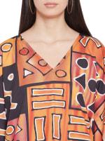 Loose V- Neck Gown Kaftan - Plus - 3