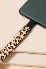 Animal Print Calf Hair iPhone USB Cable Bracelet - 3