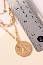 Coin Charm Layered Necklace - 4