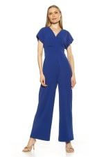 Surplice Short Sleeve Jumpsuit - 5