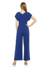 Surplice Short Sleeve Jumpsuit - 2