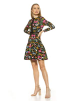 Alexa Lace Trim Floral Print Dress - 3