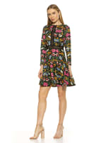 Alexa Lace Trim Floral Print Dress - 4