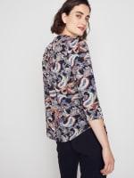 Roz & Ali Multi Color Paisley Pintuck Popover - 7