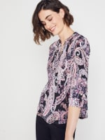 Roz & Ali Floral Paisley Pintuck Popover - 4