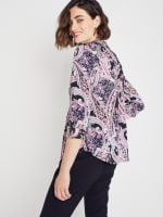 Roz & Ali Floral Paisley Pintuck Popover - 6
