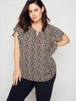 Roz & Ali Chain Trim Flutter Sleeve Blouse - Plus - 5
