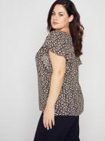 Roz & Ali Chain Trim Flutter Sleeve Blouse - Plus - 6