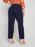 Roz & Ali Secret Agent Slim Leg Wide Waistband Pants - Plus - 31