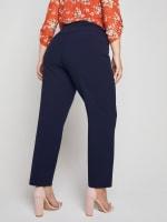 Roz & Ali Secret Agent Slim Leg Wide Waistband Pants - Plus - 35
