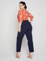 Roz & Ali Secret Agent Slim Leg Wide Waistband Pants - Plus - 38