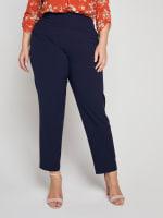 Roz & Ali Secret Agent Slim Leg Wide Waistband Pants - Plus - 30