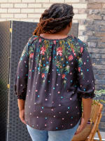 """Westport """"On And Off The Shoulder"""" Border Print Top - Plus - 2"""