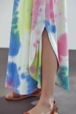 KAII Sleeveless Crew Neck In Tie Dye Maxi Dress - 4