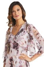 Rose Chiffon Floral Lurex  Jacket Dress - 3
