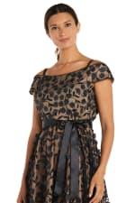 Tea Length Off the Shoulder Floral Dress - 3