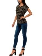 Adrienne Vittadini Short Tulip Sleeve With Keyhole Neck Top - 5